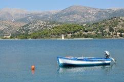 Rowboat  in Argostoli port Royalty Free Stock Photos