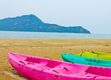 Rowboat on the beach Royalty Free Stock Photo