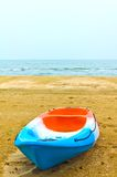 Rowboat on the beach Royalty Free Stock Photos