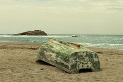 Rowboat on the beach Royalty Free Stock Images