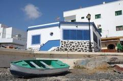 Rowboat on the beach Fuerteventura, Spain Royalty Free Stock Photography