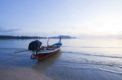 Rowboat on the beach of Thailand Royalty Free Stock Photo