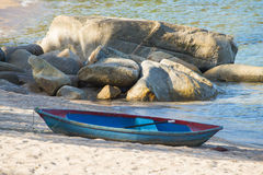 Rowboat on the beach in Thailand Royalty Free Stock Image