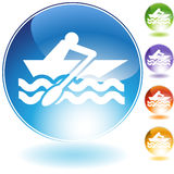 Rowboat Crystal Icon Royalty Free Stock Photos