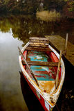 Rowboat on a lake in autumn, Germany Royalty Free Stock Images