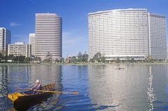 Rowboat on Lake Merritt, Oakland, California Royalty Free Stock Photography
