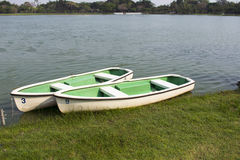 Rowboat in Lake Park. Royalty Free Stock Photography