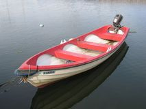 A rowboat with a motor Royalty Free Stock Image