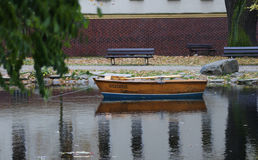 Rowboat na jeziorze Obraz Royalty Free