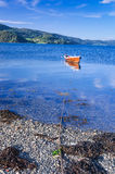 Rowboat in Norwegian fjord Royalty Free Stock Photos
