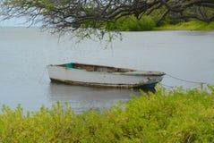 Rowboat Ochraniający od morza obraz stock