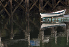 Rowboat Reflections Stock Photography