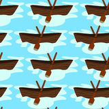 Rowboat seamless background design Royalty Free Stock Photo