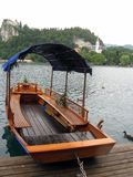 Rowboat to Bled Island Royalty Free Stock Photo