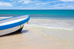 Rowboat in a Tropical Sea Royalty Free Stock Photos