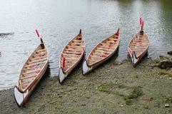 4 rowboats в ложном греке, Ванкувере, Канаде Стоковые Изображения RF
