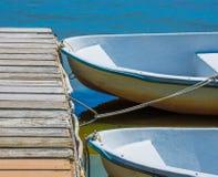 Rowboats на доке Стоковое Изображение