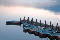 rowboats пристани Стоковое Изображение