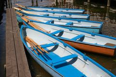 Rowboats. On the river Thames Royalty Free Stock Photography
