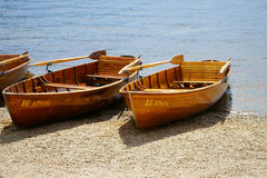 Rowboats on the banks of Lake Titisee Royalty Free Stock Photography
