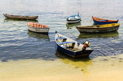 Rowboats on the beach Stock Image