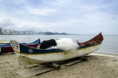 Rowboats on the beach Royalty Free Stock Photos