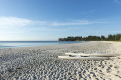 Rowboats on the beach Royalty Free Stock Images
