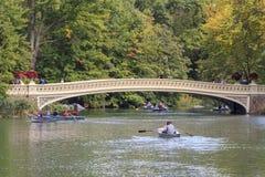 Rowboats в Central Park Стоковое Фото