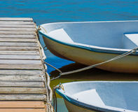 Rowboats at the dock Stock Image