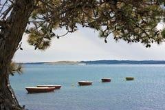 Rowboats für Miete stockfoto