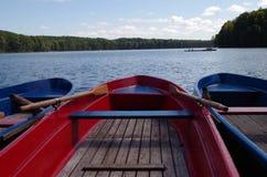 Rowboats at a lake in germany Royalty Free Stock Photo