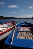 Rowboats at a lake in germany Royalty Free Stock Photography
