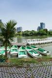 Rowboats in Lumphini Park; Bangkok Royalty Free Stock Image