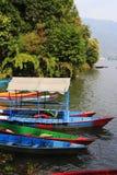 Rowboats at the Phewa lake Stock Photos