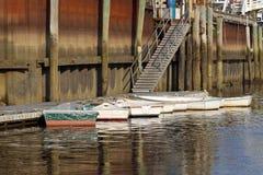Rowboats przy dokiem Zdjęcie Royalty Free
