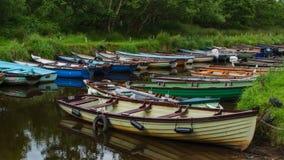 Rowboats przy Ross kasztelem obrazy royalty free