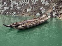 Rowboats at River Shennong Xi Royalty Free Stock Image