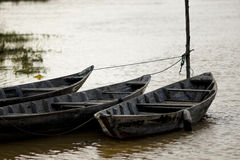 Rowboats on the river Stock Image