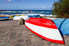 Rowboats in Taganana Coast Stock Image