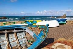 Rowboats in Taganana Küste lizenzfreies stockbild