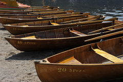 Rowboats for Tourists. Rowboats at the lake Titisee, Black Forest, South-West Germany Royalty Free Stock Photo