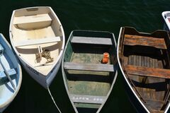 Rowboats on water