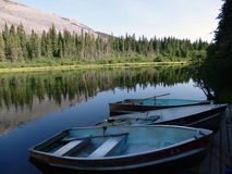 Rowboats in the wilderness Stock Images