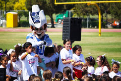 Rowdy Dallas Cowboy NFL Mascot. Rowdy the mascot for Dallas Cowboy Football Team in the NFL. Taken 7/23/2014 in Oxnard, CA Youth Camp Royalty Free Stock Image