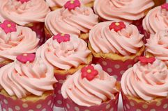 Różowe babeczki Zdjęcia Royalty Free