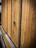 Rowe de tablones envejecidos de la madera Imagen de archivo
