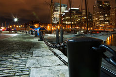 Rowe's Wharf at Night Stock Photography