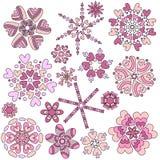 Różowej walentynki ornamentu Kierowa kolekcja Zdjęcie Royalty Free