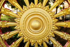 Rowel, koło sztuka, jest pospolity w Azjatyckich świątyniach zdjęcia royalty free