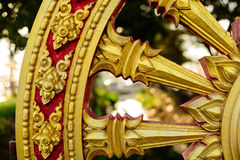 Rowel, koło sztuka, jest pospolity w Azjatyckich świątyniach zdjęcie royalty free